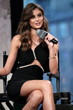 Taylor Hill visits AOL BUILD Series to discuss the Victoria's Secret Fashion Show and her career at AOL Studios In New York on December 7 2015 in New...
