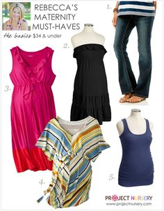 Rebecca shares some of her favorite maternity clothing finds that won't break the bank.