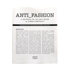 Manifesto by Lidewij Edelkoort   lidewij edelkoort