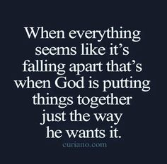 Every event leads to another. God wasn't happy with arrangements as they where... He will do whatever to rearrange what he needs to and repair and renew and dispelle of what he needs to in due time.