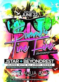 Summer Time Fine South Beach Party @ Aqua Saturday June 22, 2013