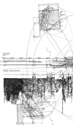 Detail of Hand Drawing - Study Analysis of House IV by Peter Eisenman >> by George Sinas