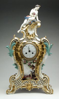 Mantle Clock, Johann Frederick Ebelein (Germany, Saxony, active 1735-1749) Meissen Porcelain Manufactory (Germany, Meissen, founded 1710) Germany, circa 1745
