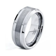 Mens 8mm Tungsten Wedding Band, Brushed Carbide Custom Ring Laser Engraving Engagement Men's Male Unique Anniversary Rings Bands Women Hers on Etsy, $57.77