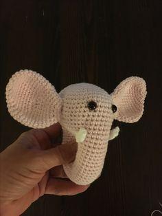 Hæklet rangle elefant