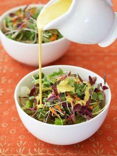 Creamy Anti-Inflammatory Salad Dressing or Sauce with turmeric