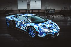 Lamborghini Aventador Bape Arctic Camo By Liberty Walk