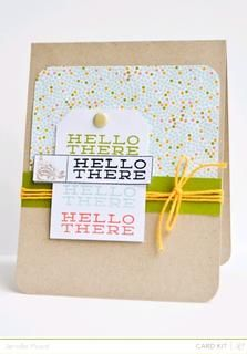 Hello There *Main Kit Only* by JennPicard at Studio Calico using the Block Party card kit