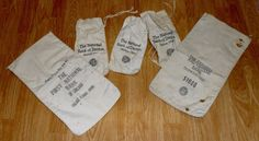 canvas bank bags Chicago,Ohio Vintage