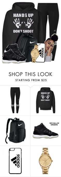"""""""BLACK LIVES MATTER ✊"""" by officialniyah ❤ liked on Polyvore featuring adidas, NIKE and Lacoste"""