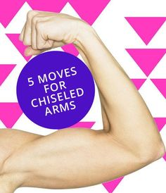 Get toned and chisled arms with these effective arm exercises from personal trainer Katherine Kado Simmons. Get toned and chisled arms with these effective arm exercises from personal trainer Katherine… Fitness Motivation, Fitness Diet, Health Fitness, Fitness Quotes, Fitness Weightloss, Women's Health, Workout Fitness, Health Tips, Pump It