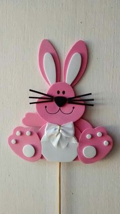 Easy Easter Crafts, Paper Crafts For Kids, Panda Craft, Diy Easter Decorations, Easter Activities, Rock Crafts, Spring Crafts, Easter Bunny, Christmas Crafts