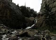 Boulder Falls is open during the summer and just a quick hike from the road.