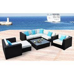 $2650 Miami All-Weather 8-piece Espresso Wicker Patio Furniture
