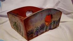 Bread box with decoupage