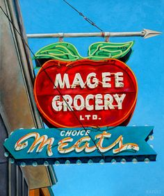 """Will Rafuse - Magee Grocery, 2015; 36"""" x 30""""  Oil on canvas"""