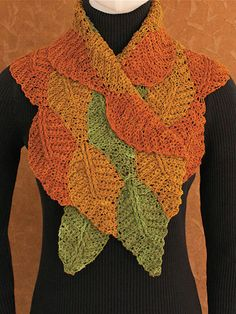 Set your stash free with a quick and colorful crocheted scarf! Worked with 1 color at a time, this striking piece features beautiful bands of beech leaves cleverly stitched together as you work so there's no sewing! And with the step-by-step instructions for making any size in any weight of yarn, you can choose the perfect color/fiber combo for your favorite fashion season. This pattern includes extra-large type with extended line spacing for easy reading, enlarged stitching diagrams, and…