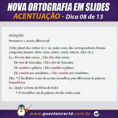 PoRtUgUêS nA TeLa: NOVA ORTOGRAFIA - Dica 08 de 13 - Acentuação ( Par...