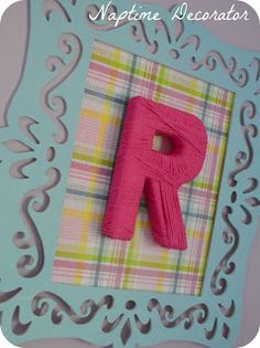 Naptime Decorator: Little Girl's Room: Easy DIY Above the Bed Art