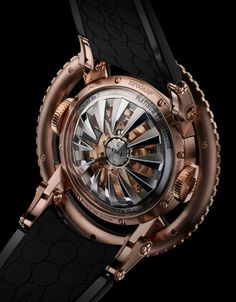 For those who haven't seen the article yet, here's the case back of MB&F's new creation HM7 Aquapod, looking like a sea monster's hungry mouth. (y) Read the article: http://www.ablogtowatch.com/mbf-hm7-aquapod-watch/ #sihhabtw