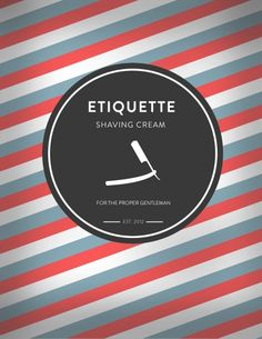 Barber shop branding | Etiquette shaving cream