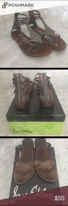 8d261f41207 Sam Edelman Ginger Sandals in Pewter Size 9 Sam Edelman Ginger sandals.  Pewter. Zippered