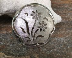 Large Floral Brooch/Pendant signed Sarah Cov, Silver tone Flower Brooch, Wedding Accessory by PassingTides on Etsy