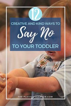 "Awesome list of creative and kind ways to redirect your toddler or preschooler so they're not hearing ""no no no"" every time you open your mouth. A must read parenting tip!"
