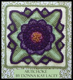 Artichoke Afghan Block Motif By Donna Kay Lacey - Purchased Crochet Pattern - (ravelry)