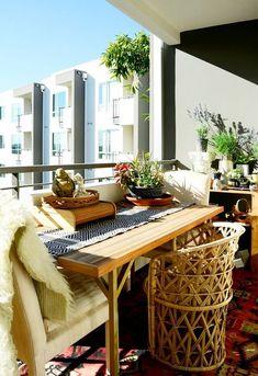 decorar una pequea terraza sunny balcony