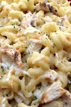Four Cheese Chicken Pasta Bake