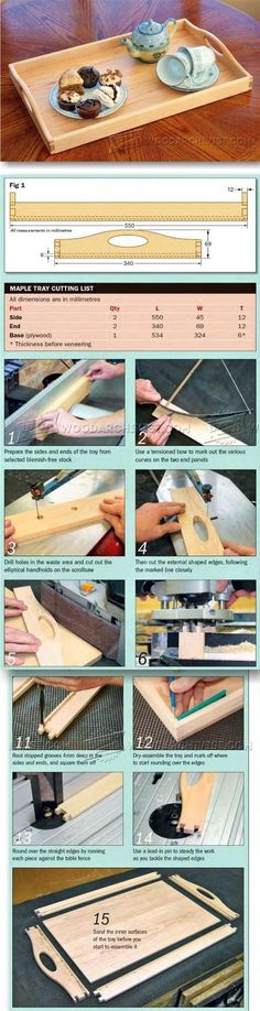 Tea Tray Plans - Woodworking Plans and Projects   http://WoodArchivist.com