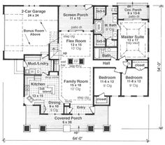 images about Homes by Vanderbuilt Floor Plans on Pinterest    http     monsterhouseplans com bungalow style house plans   square foot home   story   bedroom and   bath   garage stalls by monster house plans plan