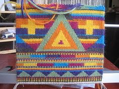 Tapestry on a Mirrix Loom by Claudia Chase