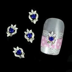 Tint 10pcs Blue Rhinestone Silver DIY Alloy Nail Art Decoration *** Be sure to check out this awesome product.