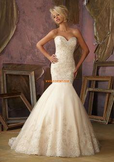 Vom Vintage-Stil inspiriert Spitze Tiefe Taille Brautkleider 2014