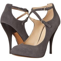 Nine West Cohearent High Heels, Gray (£32) ❤ liked on Polyvore featuring shoes, pumps, heels, grey, grey pumps, stiletto heel pumps, high heel pumps, pointed-toe pumps and platform stiletto pumps