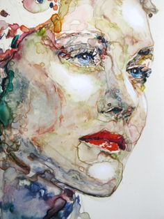 Veronika July, watercolour on paper