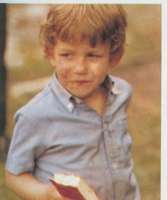 A (very) young Puyol tucks into an ice cream sandwich, 1983