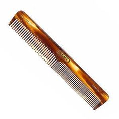 """Kent Hand-Made 158mm Coarse/Fine General Grooming Comb - 2T by Kent. Save 8 Off!. $8.75. Hand made in England. Teeth are half fine / half coarse. 6"""" by 1"""". The finish of hand polished saw-cut Kent comb is recommended by trichologists because they are kind to hair and scalp.   This comb is faux tortoiseshell, hand polished to glide through the hair without causing damage or scratching the scalp. Tactile, flexible and strong."""