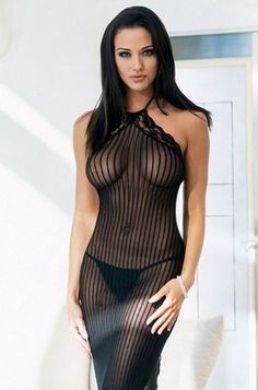 Sheer lines and wonderful curves. Model and outfit were made for each other. Breathtakingly sexy.