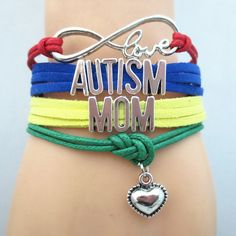 Show your support for Autism Awareness - Infinity Love Autism Mom Bracelet. Don't Miss our sales event.