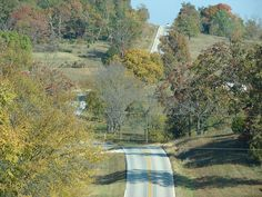 Missouri - route 39 outside of Shell Knob. Beautiful winding country roads.