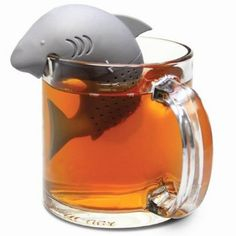 NO:1 Filtres à thé, Passoires à thé, Boules à thé, Filtres à feuille de thé, Infuseur à thé, Style de requin créatif - Gris: Amazon.fr: Cuisine & Maison