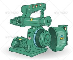 Industrial Machine Illustration  #GraphicRiver         Sketch of pellets making machine made of steel in green color     Created: 16October12 GraphicsFilesIncluded: JPGImage #VectorEPS #AIIllustrator Layered: No MinimumAdobeCSVersion: CS Tags: art #background #backgrounds #blank #design #drawing #electric #engine #engineering #equipment #factory #graphic #illustration #image #industrial #industry #machine #manufacturing #mechanical #metal #modern #production #silhouette #steel #symbol…