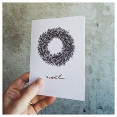 Another brand new holiday card in graphite and gold foil. These are now available on our site! #SycamoreStreetPress | Sycamore Street Press