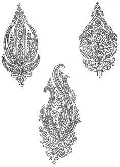 Indian Motifs Textile Pattern, Textile Pattern Design II, Indian Motifs Dynamic Textile Patterns, Textile Guide Delhi India