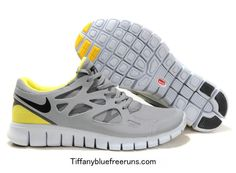 $49 Yellow Grey Nike Free Runs 2 Shield Girls... I want these!!! I wear a size 8 by the way ;-)