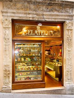 In Orvieto, Italy, of course, the gelato is molto buono!