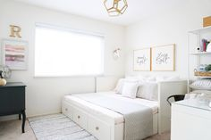 The nursery turned guest bedroom: 3 easy tips to a successful summer ready guest bedroom – Storage 2020 Lit Hemnes Ikea, Ikea Hemnes Daybed, Hemnes Bed, Guest Bedroom Office, Guest Bedrooms, Guest Room And Nursery Combo, Nursery Office Combo, Cottage Bedrooms, Small Bedrooms